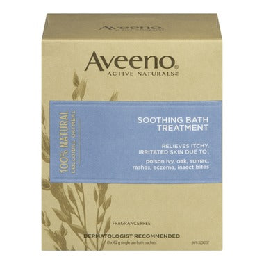 AVEENO SOOTHING BATH TREATMENT 8 PACKETS
