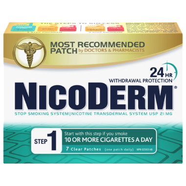 NICODERM STEP 1 24 HOUR 7 PATCHES