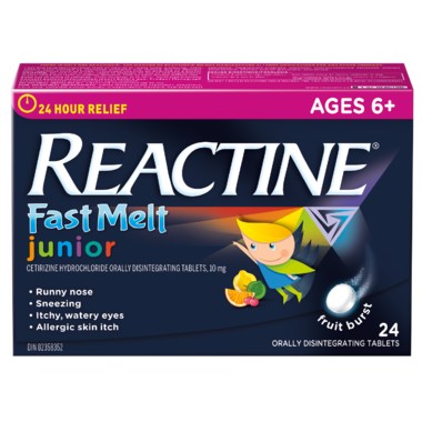 REACTINE JUNIOR FAST MELT FRUIT 24 TABLETS