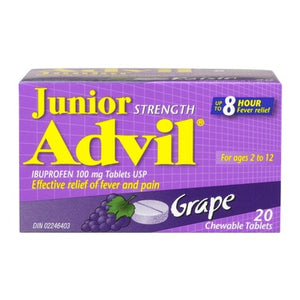 JUNIOR STRENGTH ADVIL GRAPE 20 CHEWABLE TABLETS