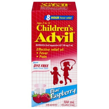 CHILDREN'S ADVIL BLUE RASPBERRY 100mL