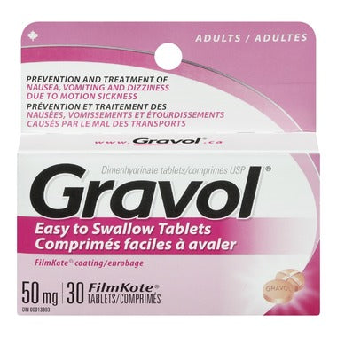 GRAVOL 50MG 30 TABLETS
