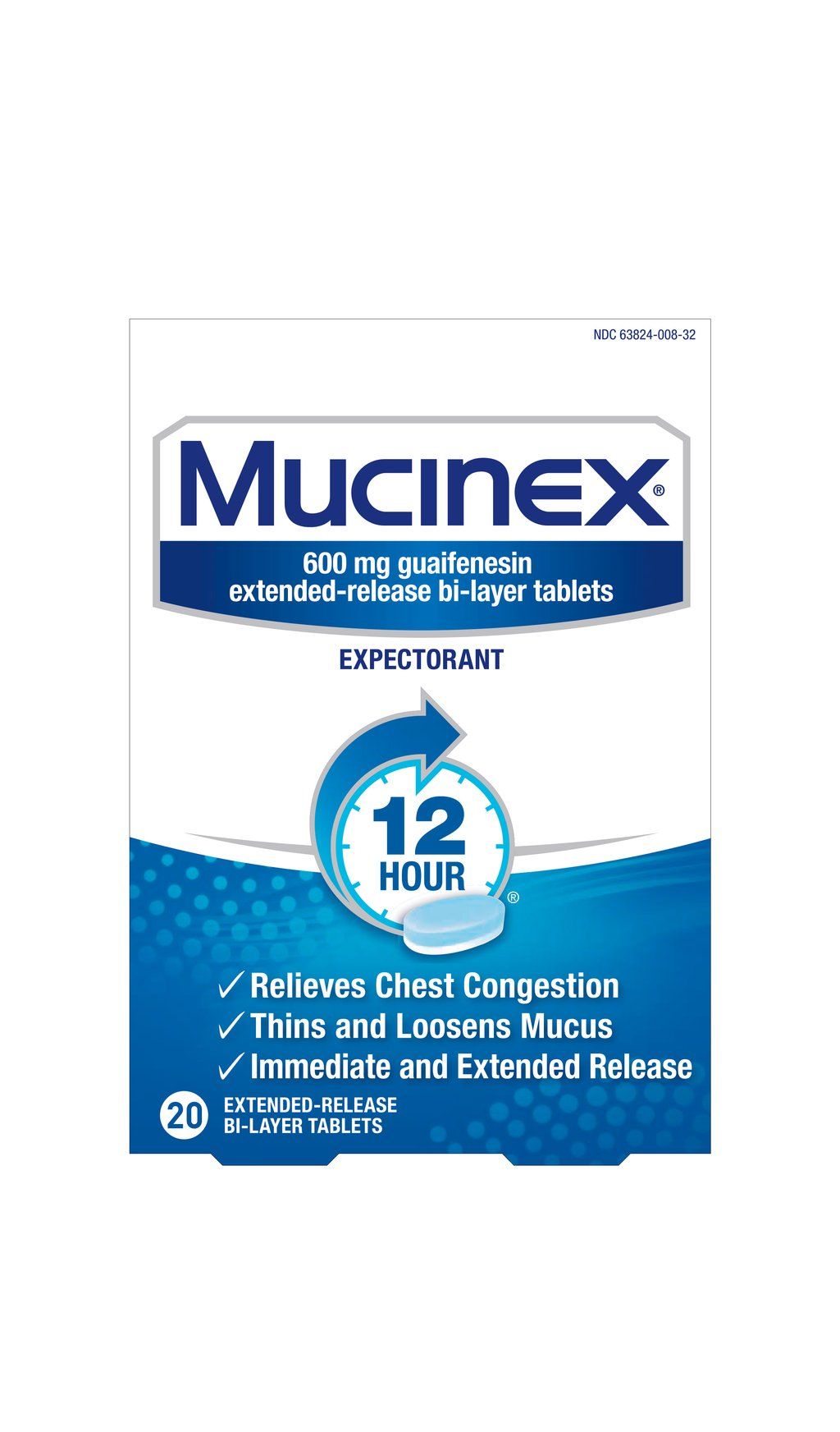 MUCINEX CHEST CONGESTION 20 TABS