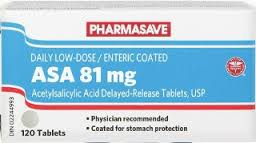 DAILY LOW DOSE ASA 81MG 120 TABLETS