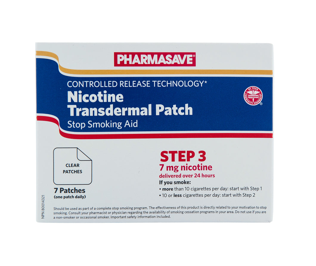 NICOTINE TRANSDERMAL PATCH STEP 3, 7 PATCHES