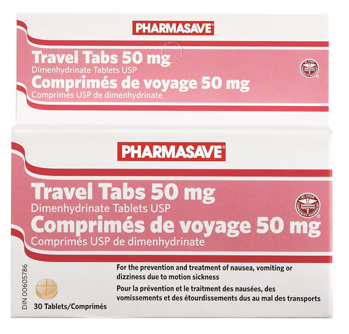 TRAVEL TABS 50MG, 30 TABLETS