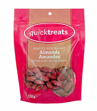 ROASTED ALMONDS 120GM