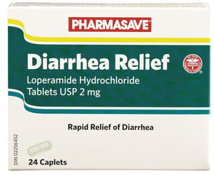 DIARRHEA RELIEF 2MG 24 CAPLETS