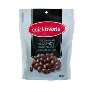 MILK CHOCOLATE COVERED ALMONDS 200GM