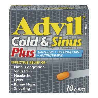 ADVIL COLD & SINUS PLUS 10 CAPLETS