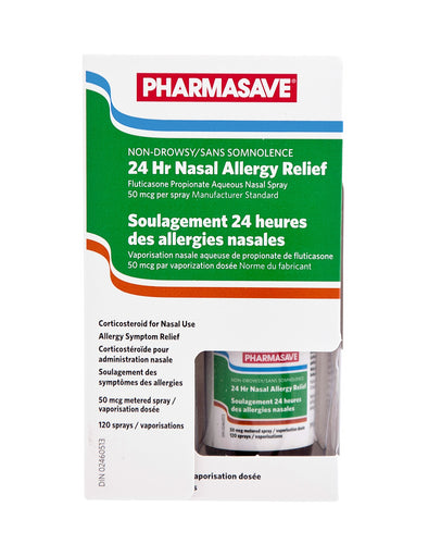PHARMASAVE 24-HOUR ALLERGY RELIEF NASAL SPRAY 120 SPRAYS