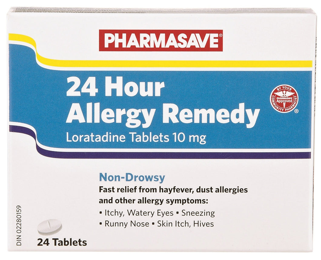 PHARMASAVE 24 HOUR ALLERGY REMEDY 24 TABLETS