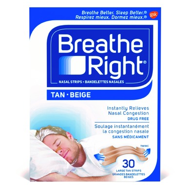 BREATHE RIGHT NASAL STRIPS LARGE 30 STRIPS