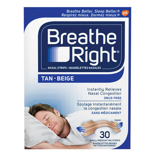 BREATHE RIGHT NASAL STRIPS SMALL 30 STRIPS