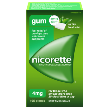 NICORETTE 4MG ULTRA FRESH MINT 105 PIECES
