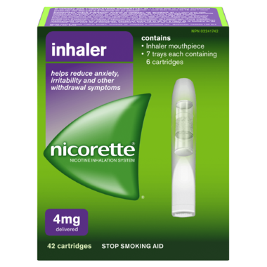 NICORETTE 4MG INHALER 42 CARTRIDGES