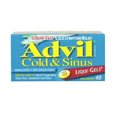 ADVIL COLD & SINUS 40 LIQUID CAPS