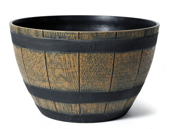 Barrel Bowl Brown D40H25