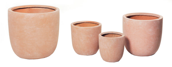 Clayfibre Egg Pot Terracotta S4 D27/51H26/49