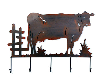 York Wall Decor Cow Rust L55W4,5H38