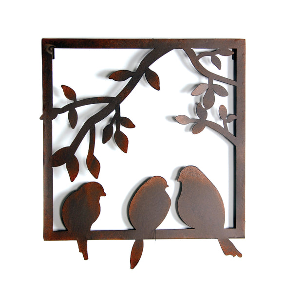 York Wall Decor 3 Birds Rust L31W1,5H35