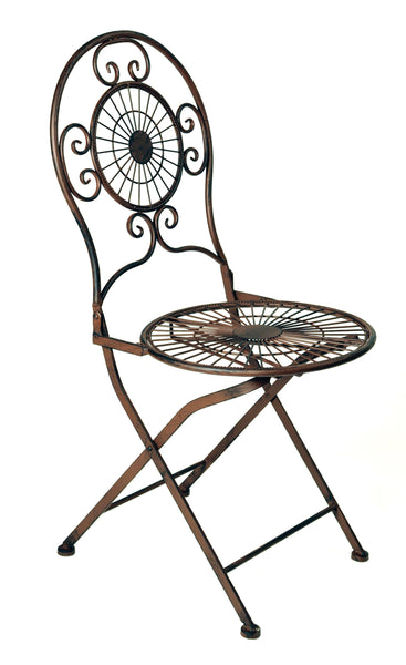 Ornament Round Chair Rust L50W40H93