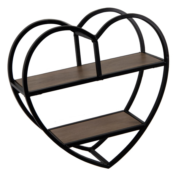 Home Wallhanger Heart Black L38W14H39
