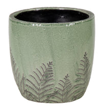 Shine Fern Egg Pot Green D20H20