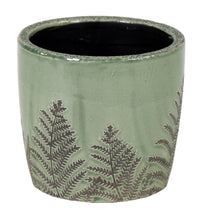 Shine Fern Egg Pot Green D17.5H16