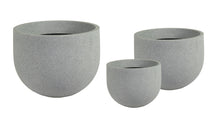 Odeon Andros Egg Pot Low S3 Light Grey D33/57H23/4