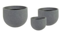 Odeon Andros Egg Pot Low S3 Dark Grey D33/57H23/4