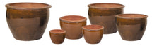 T. Natural Glazed Lily Planter S6 D17/65H14/50