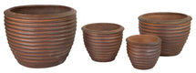 T. Dark Brown Ribbed Pot S4 D30/63H24/50