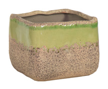 Rami Square Pot Antique Kiwi D10.5H9