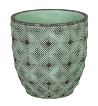 Bella Egg Pot Verdigris D15H15.5