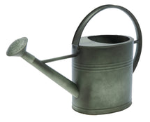 Zinc Vintage Green Watering Can Oval 7L