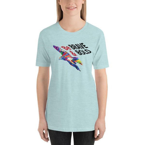 Heather Prism Ice Blue / S Be Brave and Bold | Short-Sleeve Unisex T-Shirt Kadance Shop
