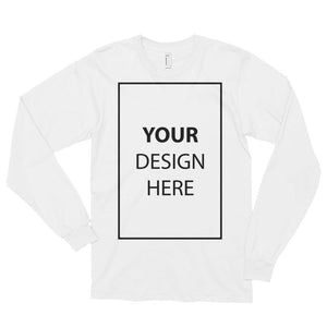 White / S Customize your Long sleeve t-shirt (unisex) Kadance Shop
