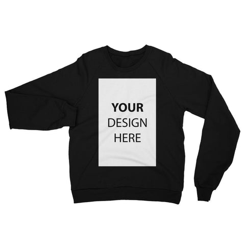 Black / XS Customize your Unisex California Fleece Raglan Sweatshirt Kadance Shop