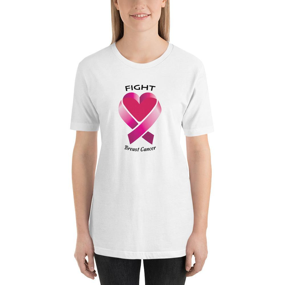 S Fight Breast Cancer | Short-Sleeve Unisex T-Shirt Kadance Shop