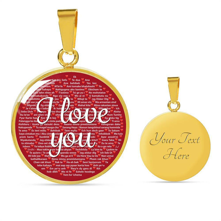 Jewelry Luxury Necklace (Gold) / Yes I Love You Necklace, 100 Languages to Express Your Love, Luxury Gift, Women Girls | Kadance Shop ShineOn Fulfillment