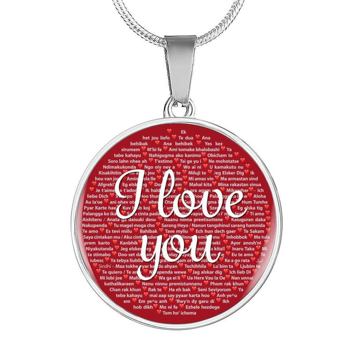 Jewelry Luxury Necklace (Silver) / No I Love You Necklace, 100 Languages to Express Your Love, Luxury Gift, Women Girls | Kadance Shop ShineOn Fulfillment