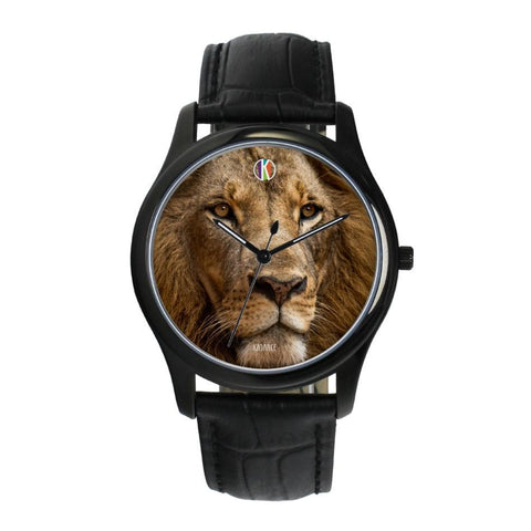Black Type Water-resistant Quartz - diameter - 38mm Lion Face Watch | Kadance Shop JetPrint Fulfillment