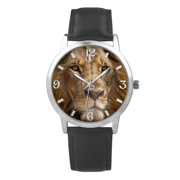 Silver Type Concise Dial Water-resistance Quartz II - diameter - 32mm For-Her Lion Face Watch | Kadance Shop JetPrint Fulfillment