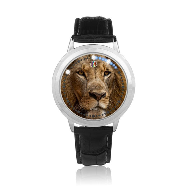 Silver-type touch screen water-resistant LED - diameter - 43mm Lion Face Watch | Kadance Shop JetPrint Fulfillment