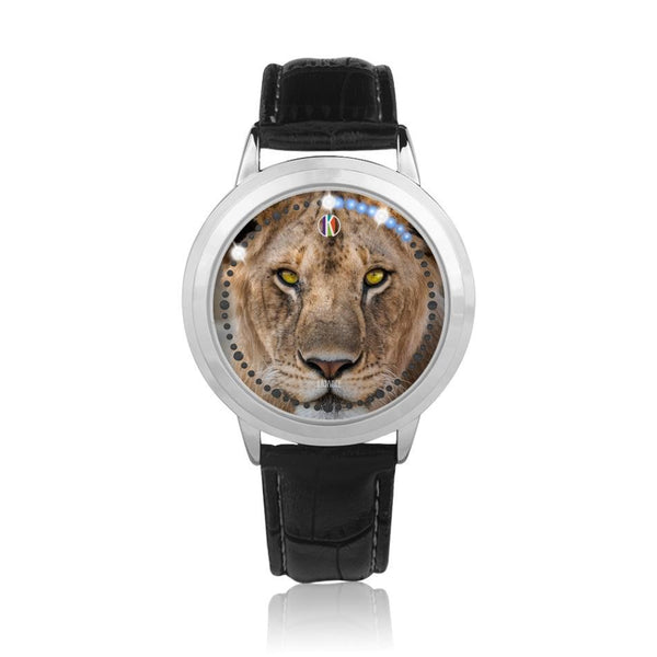 Silver Type Touch Screen Water Resistance LED - diameter - 43mm Lioness Face Watch for Her | Kadance Shop JetPrint Fulfillment