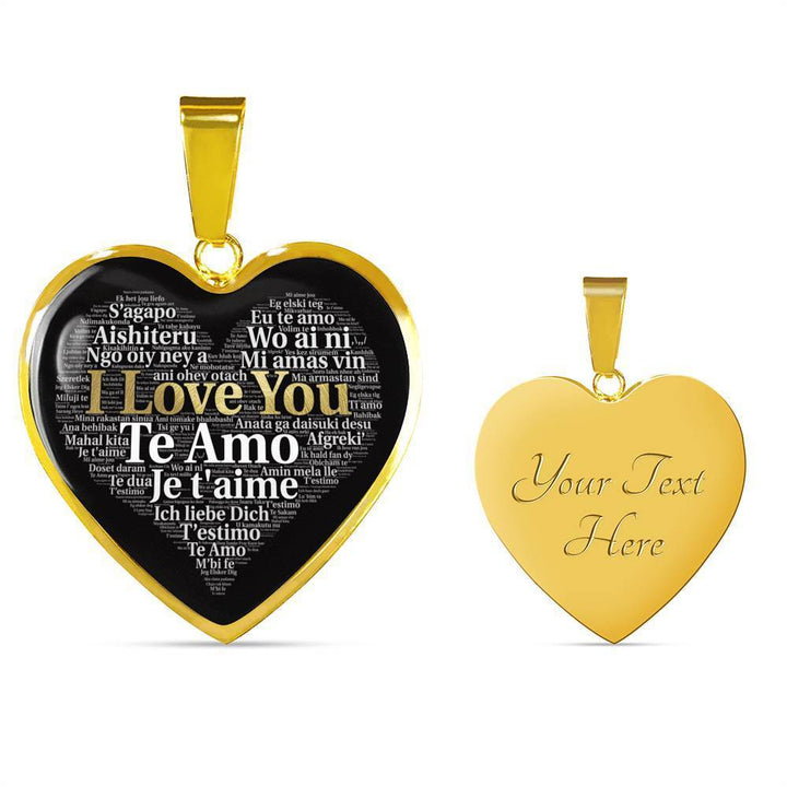 Jewelry Luxury Necklace (Gold) / Yes Luxury Necklace (18k Gold) I Love You in 100 Languages ShineOn Fulfillment