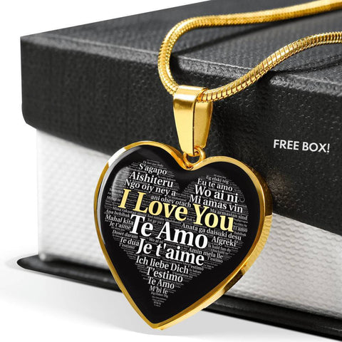 Jewelry Luxury Necklace (18k Gold) I Love You in 100 Languages ShineOn Fulfillment