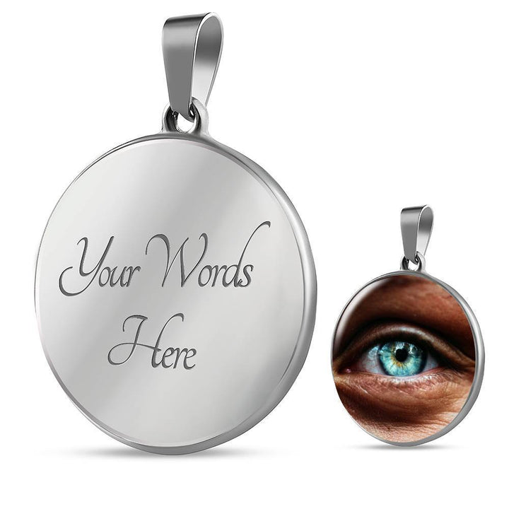 Jewelry Luxury Necklace (Silver) / Yes Luxury Necklace - Eye, I See You ShineOn Fulfillment