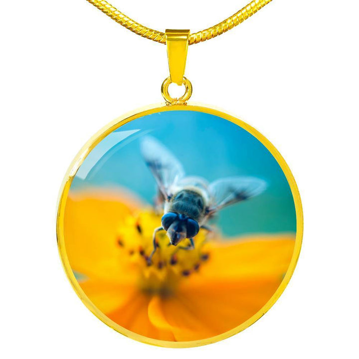 Jewelry Luxury Necklace (Gold) / No Luxury Necklace | Save the Bees Save the World ShineOn Fulfillment